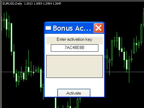 Roboforex bonus key